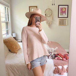Lou & Grey Pink Garment Dye Hi-Side Sweatshirt